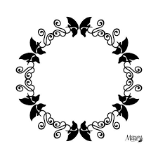 butterfly swirls monogram circle svg from midnightmagykcrafts on