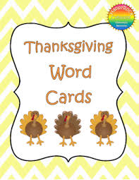 thanksgiving word cards by happyrock creations tpt
