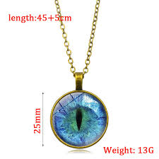 dragon glass necklace images Glow in the dark pendant necklace dragon eye art photo glass jpg