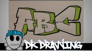 how to draw graffiti graffiti letters abc step by step youtube