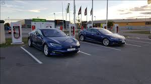 tesla model s charging tesla supercharger kristianstad charging site