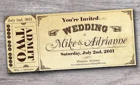 ticket wedding invitations wedding ticket invitation paperinvite