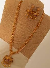 long necklace set images Designer matt finish long necklace set emporia jewels jpg