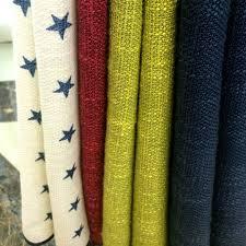 cotton linen navy red green star curtains