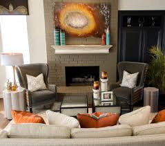 painted adobe fireplace family room traditional with footed