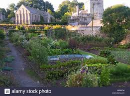 walled kitchen garden once part of buckland abbey with 13th