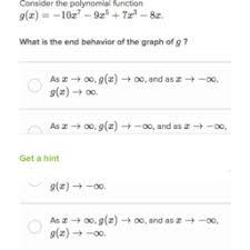 end behavior of polynomials practice khan academy