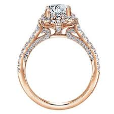 round halo rings images 18k rose gold amavida round halo diamond engagement ring rose jpg