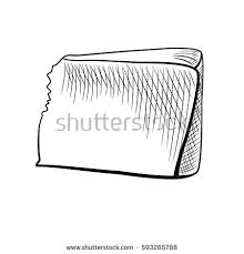 hand drawn piece parmesan cheese sketch stock vector 593279978