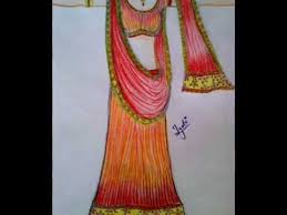 how to draw indian dresses indian dress designs youtube