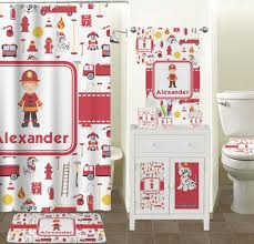 extraordinary firefighter shower curtain personalized potty