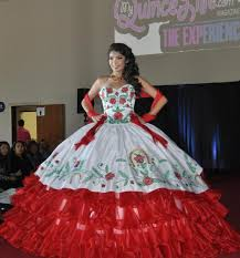 2016 quinceanera dresses white and red tiered draped sweetheart