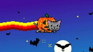 cat halloween picture nyan nyan halloween cat version original youtube