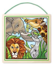 safari canvas wall art framed best craft kits for kids stained