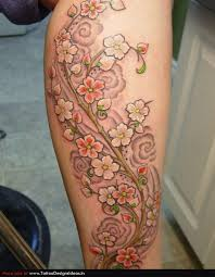 feminine flower vine tattoo design photo 3 photo pictures and