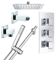 Bristan Thermostatic Bath Shower Mixer Bristan Descent Luxury Fixed Head Shower Pack Descent Shwr Pk