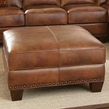 steve silver furniture silverado leather ottoman u0026 reviews wayfair