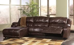 Triple Recliner Sofa by Benchcraft Leather Rustic Sofas