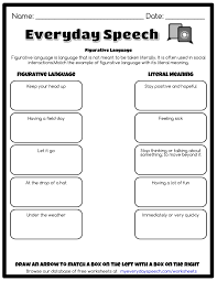 literal and nonliteral language worksheets the best and most