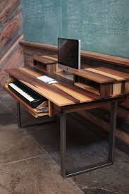 minimalist modern studio desk for audio video music film