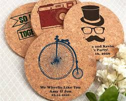coaster favors personalized cork coasters my wedding favors
