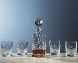 Old Fashioned Gift Set Personalized Engraved Crystal Decanters And Carafes