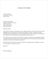 sle letter of offer acceptance 100 images cover letter order