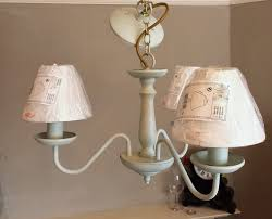 Shabby Chic Light Fixture by Light Fixture Gorgeous Upcycled Shabby Chic Hanging Pendant
