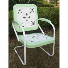 lovely retro metal outdoor chairs for your home decorating ideas