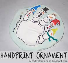 write returning diy handprint ornaments