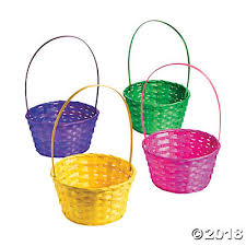 easter basket solid color easter baskets