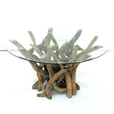 Coffee Table Bases Driftwood Coffee Table Base Glass Top Pertaining To Designs 0