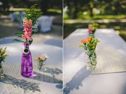 Mismatched Vases Wedding Colorful Diy Wedding Bird Island Lake Ranch Wedding Photography