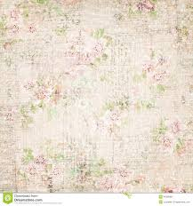 vintage french floral shabby floral chic wallaper stock photo
