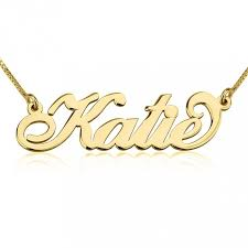 gold custom name necklace solid gold carrie inspired personalized name necklace uncommon wares