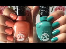 gel nail light sally s beauty sally hansen new miracle gel 2x volume nail polish review demo