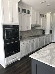 kitchen with grey cabinets and white appliances grey kitchen cabinets with white appliances page 1 line