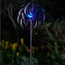 wind spinners with led lights smart garden solar spiro light wind spinner windmill garden led