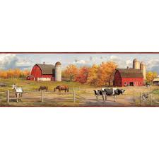 wallpaper borders at the home depot jonny american farmer portrait wallpaper border