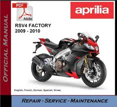 aprilia rsv4 factory 2009 2010 workshop service repair manual ebay