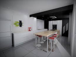 Faux Plafond Design Cuisine by Indogate Com Cuisine Avec Sol Noir