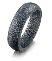 wedding rings steel images Miband silicone ring steel sparkle silicon wedding ring jpg