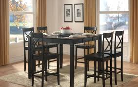 high dining room tables and chairs end furniture brands bar height
