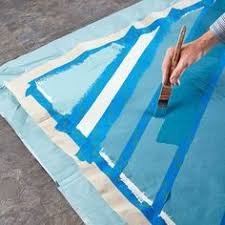 Painting An Outdoor Rug How To Turn A Canvas Drop Cloth Into An Outdoor Rug