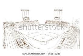 sketch baseball stadium vector stock vector 665545288 shutterstock