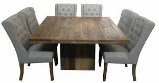 Ebay Furniture Dining Room Square Rustic Recycled Elm Wood Dining Table 140x140x 76cm High