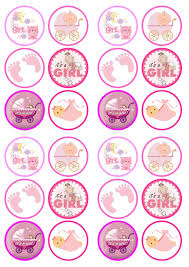 baby shower cake toppers girl it s a girl mix baby shower birth edible premium wafer paper