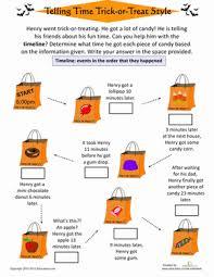 halloween timeline worksheet education com
