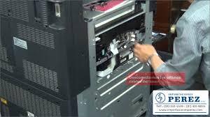 como retirar el laser bizhub c451 c452 c550 c552 c650 c652 youtube