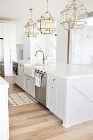 All White Kitchen Designs by Beautiful Homes Of Instagram White Kitchen Decor Gold Chandelier